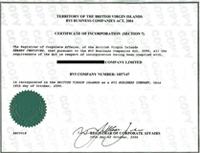 英国公司证书样本